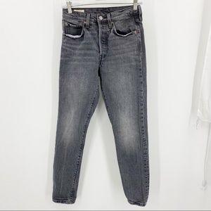 Levi's Dark Grey 501 Jeans Small